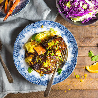 Braised Short Ribs with Honey, Soy and Orange.