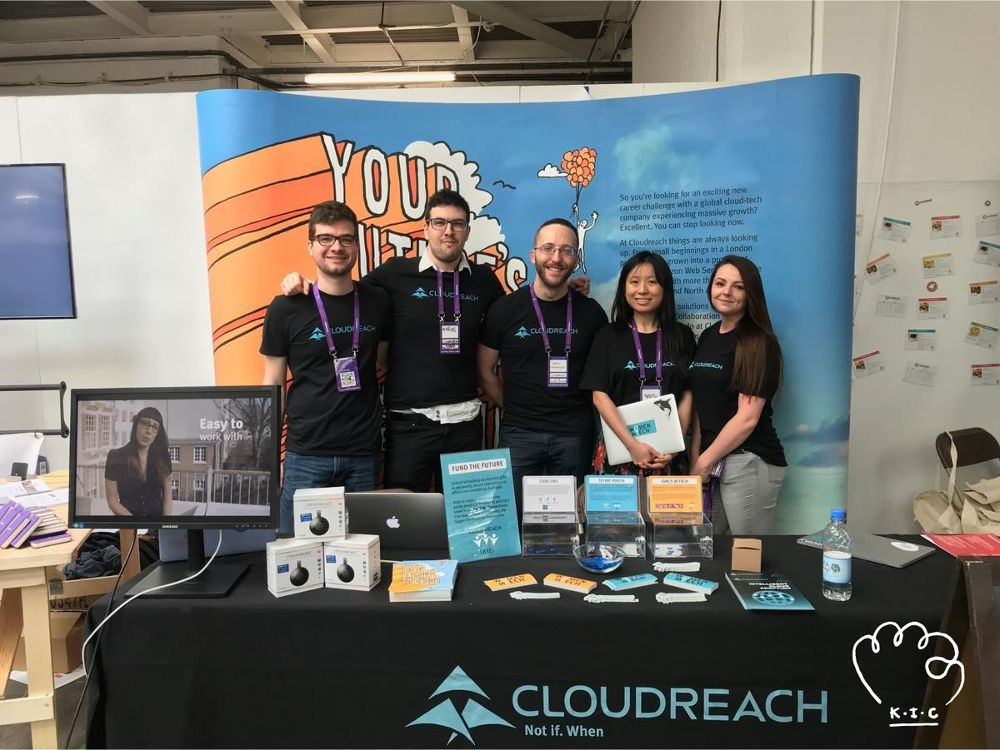 Cloudreach team members at trade event