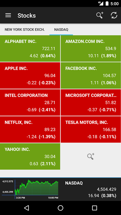 Stocks Tracker- screenshot