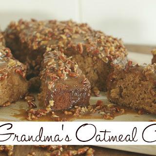 Grandma's Oatmeal Cake.