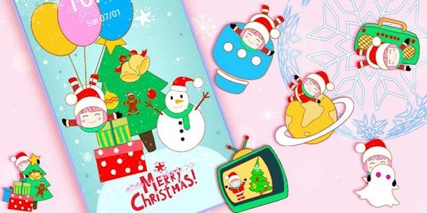 Christmas Santa Pink Theme - náhled
