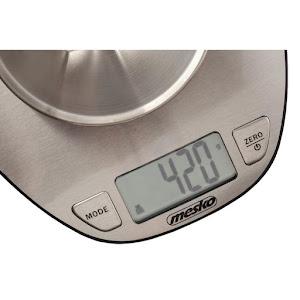 Cantar de bucatarie, Mesko MS3152, 5 kg, Inox, Argintiu