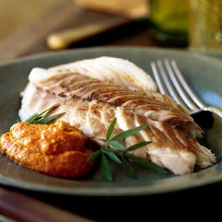 Red Snapper Baked in Salt with Romesco Sauce recipe | Epicurious.com.