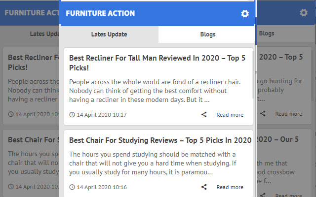 Furniture Action - Latest News Update