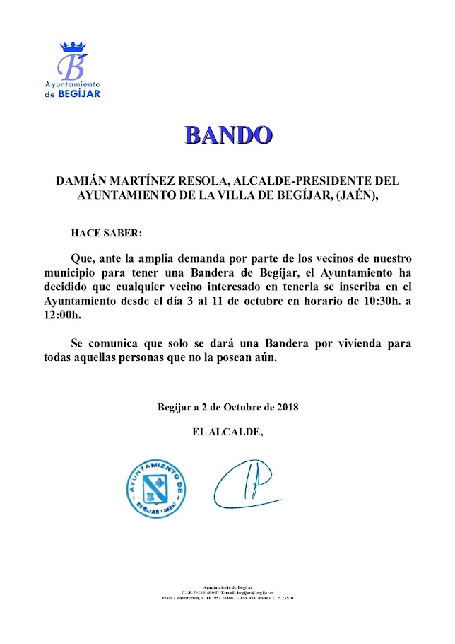 Bando Peticiones Bandera
