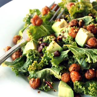 Kale Salad with Crispy Chickpeas