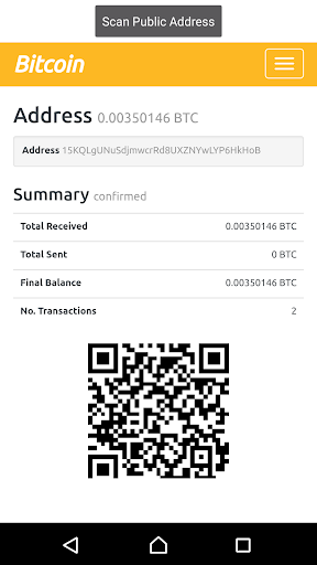 Bitcoin QR Balance  scanner screenshot 2