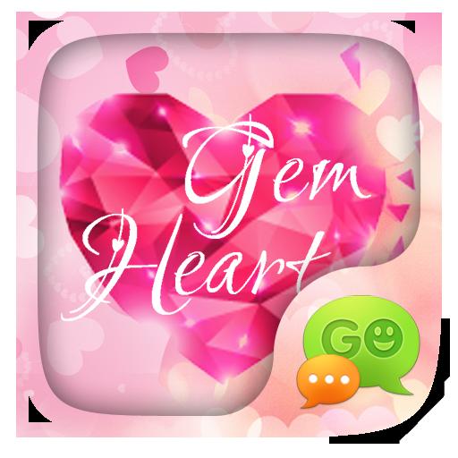 (FREE) GO SMS GEM HEART THEME