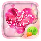 (FREE) GO SMS GEM HEART THEME