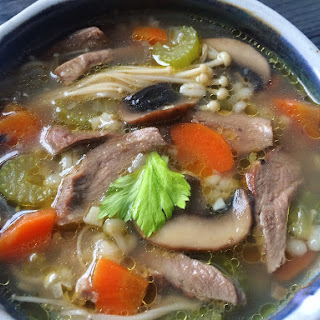 Duck Soup with Mushrooms and Barley Recipe