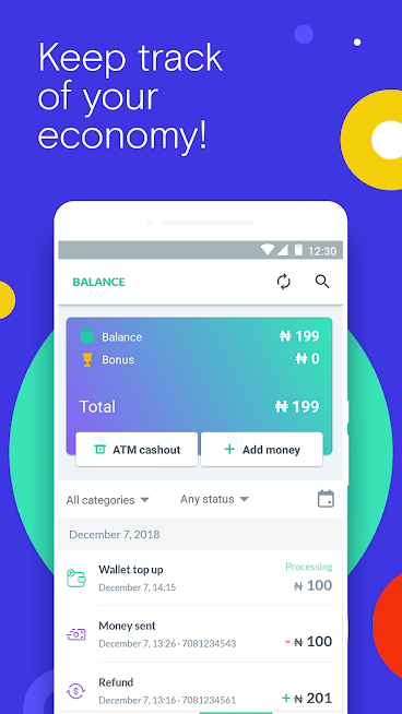Use OPay send money and pay bills