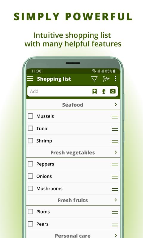Grocery list, card coupon wallet: BigBag Pro Screenshot 1