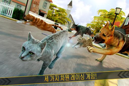 고양이 달리기 . 애완 동물 게임 어린이 토킹 경주