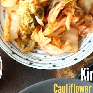 Kimchi Cauliflower Fried 'Rice'.