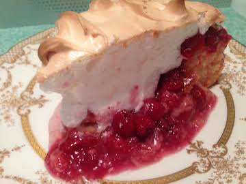 CHERRY PIE CAKE WITH ALMOND SCENTED MERINGUE