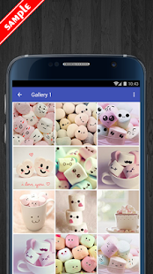 Cute Marshmallow Wallpaper HD - náhled