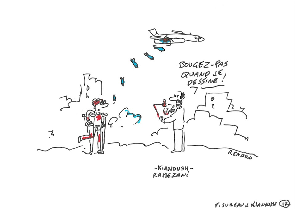 François Sureau et Kianoush Ramezani, par Renard