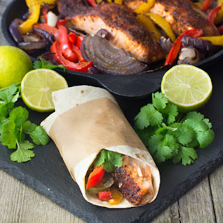 Cajun Salmon Fajitas Recipe