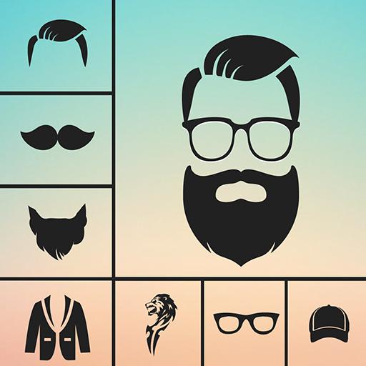 Mann glatze bart brille