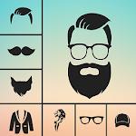 Man Photo Editor : Man Hair style ,mustache ,suit Icon