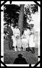 Photo: Tom Brandvold Album TBB149 Alfred and May Hansen with their son, Winston.  Laura Hansen with the child she was nanny to: Bob Lennox, Connie Brandvold
