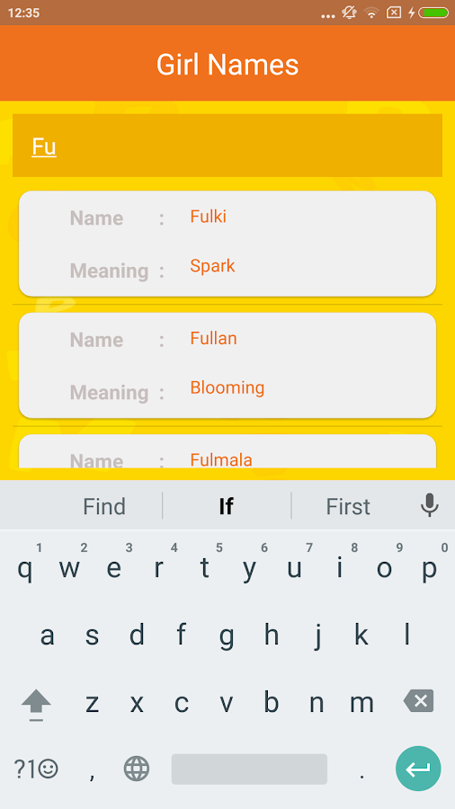Gujarati Baby Names Screenshot