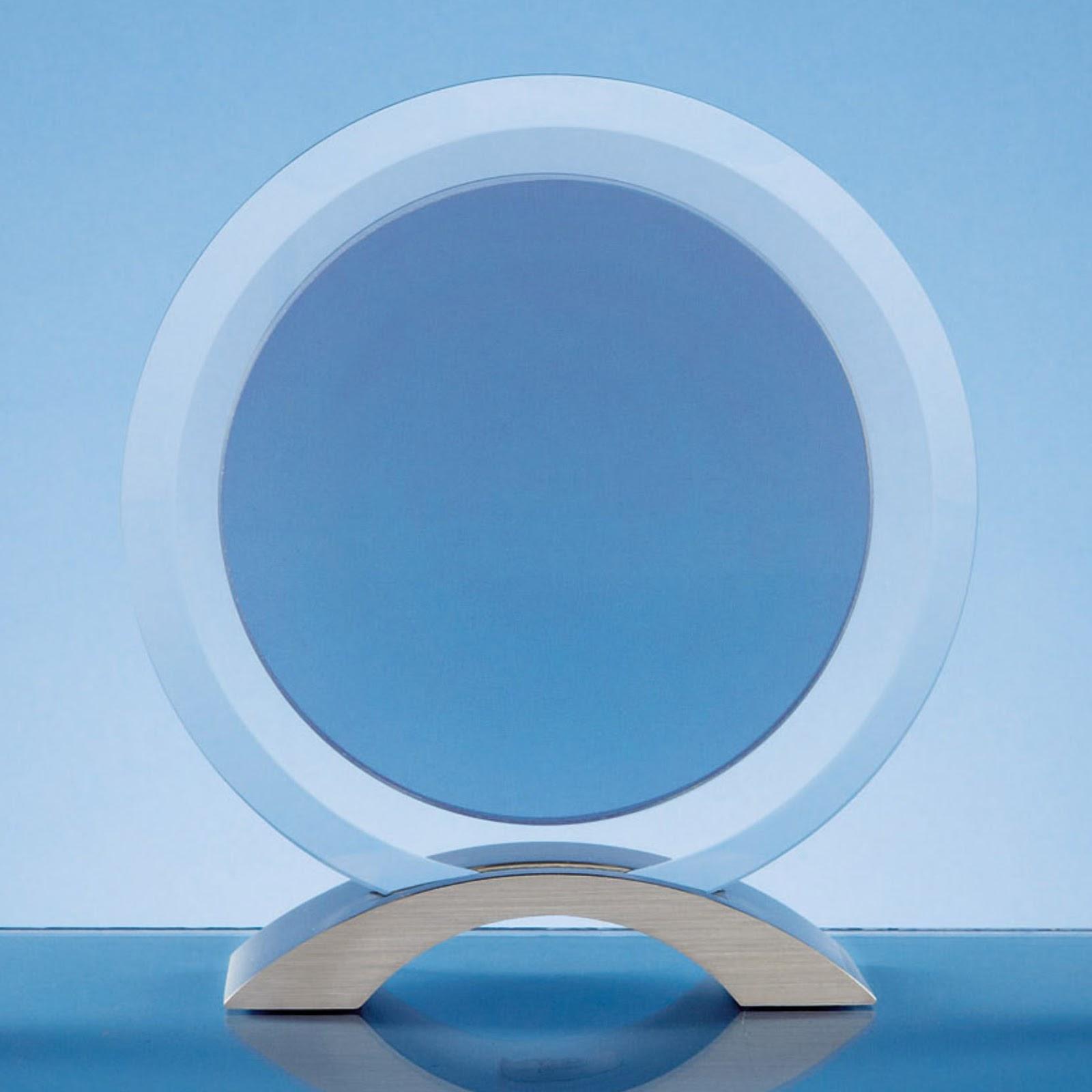 18.5cm Circular Smoked Glass Awards