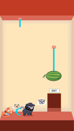 Rescue Kitten - Rope Puzzle apkmind screenshots 3