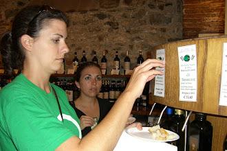 Photo: Teresa and Katie sampling olive oil