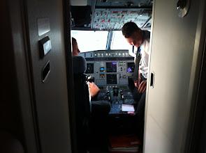 Photo: Poste de pilotage avant depuis Casablanca