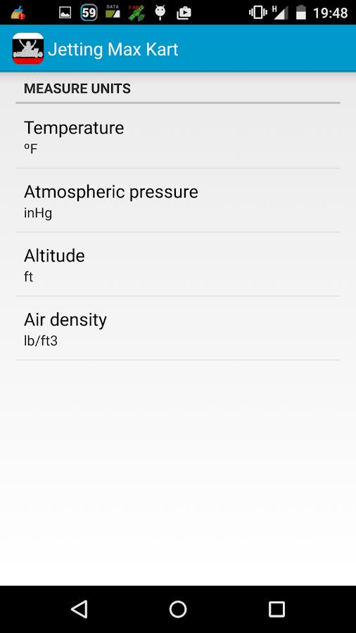 Jetting Max Kart for Rotax- screenshot