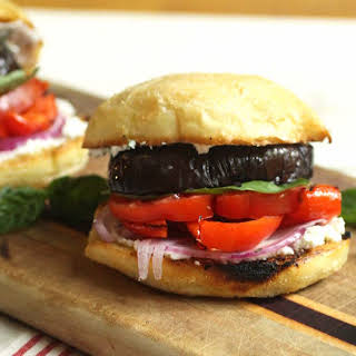 Grilled Eggplant Sandwich with Goat Cheese.