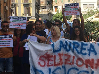 Lo sciopero della fame dei navigator in Campania