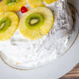 Tropical Layered Poke Cake #SundaySupper.