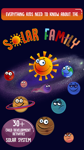 Solar Family - Planets of Solar System for Kids  screenshots 1