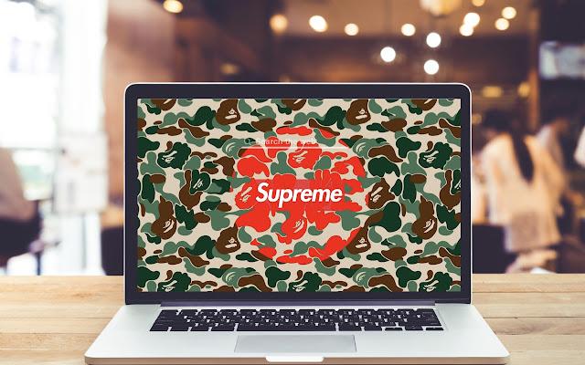 Supreme Camo HD Wallpapers Background Theme
