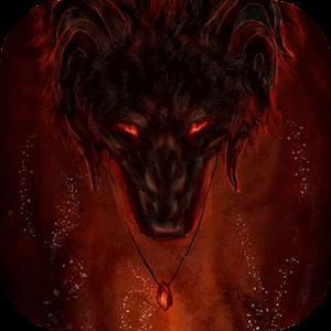 Fiery wolf live wallpaper apk
