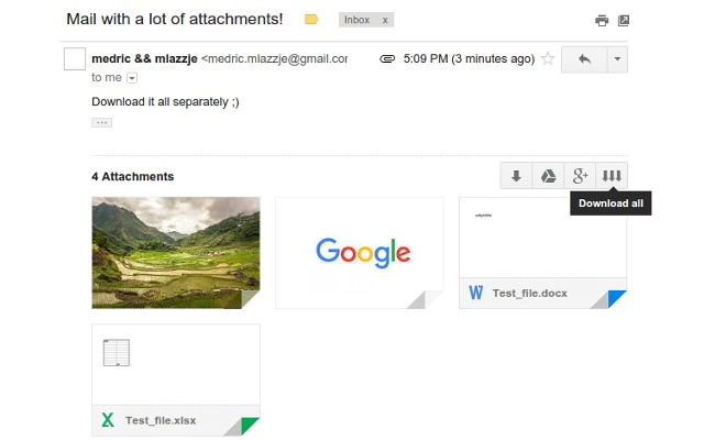 Better download all attachments for Gmail™