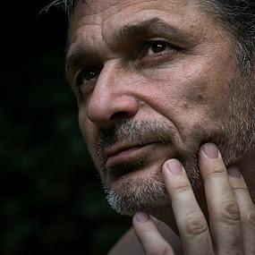 Self portraits by Sead Kazija - People Portraits of Men ( looking, man, portrait, eyes )