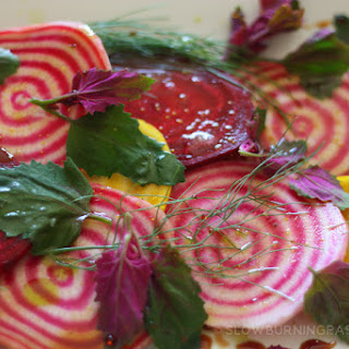 Raw Beet Salad with Lamb's Quarters.