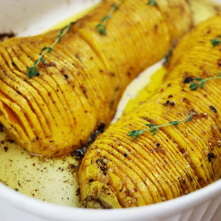 Hasselback Butternut Squash Roasted Side Dish Recipe