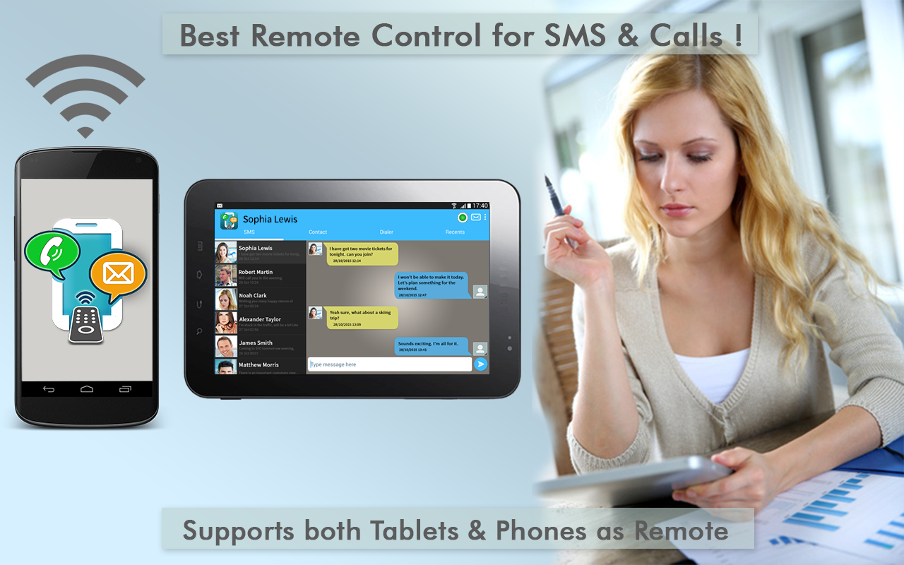 Text Message Tablet SMS Remote- screenshot
