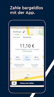 FREE NOW (mytaxi) - Schnelle & sichere Taxi App Screenshot
