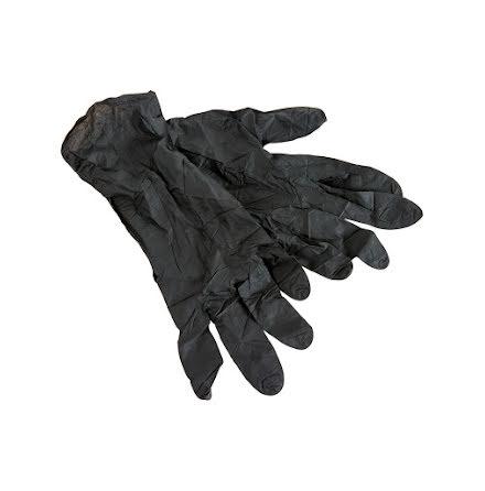50 nitrile handskar Svart S