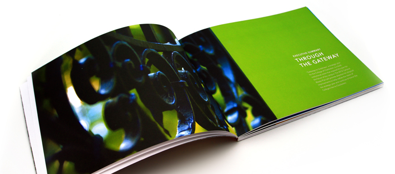 """Photo: A beautifully designed .5"""" thick bound book for the College of Charleston."""