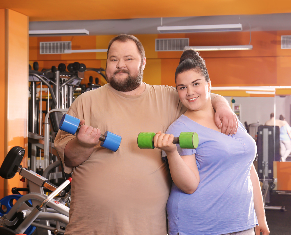 casal treinando junto
