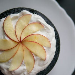 Chocolate Cake with Apples and Salted Caramel Buttercream.