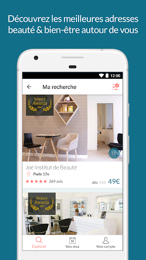 Balinea Coiffeurs, Spa, Beauté app (apk) free download for Android/PC/Windows screenshot