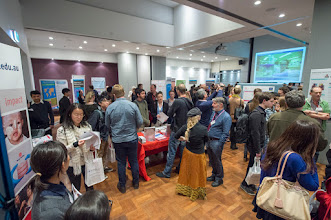 Photo: AMREP seminar room at capacity on the night. Student feedback was very positive about the time to chat and opportunities to engage with different subject specialists.