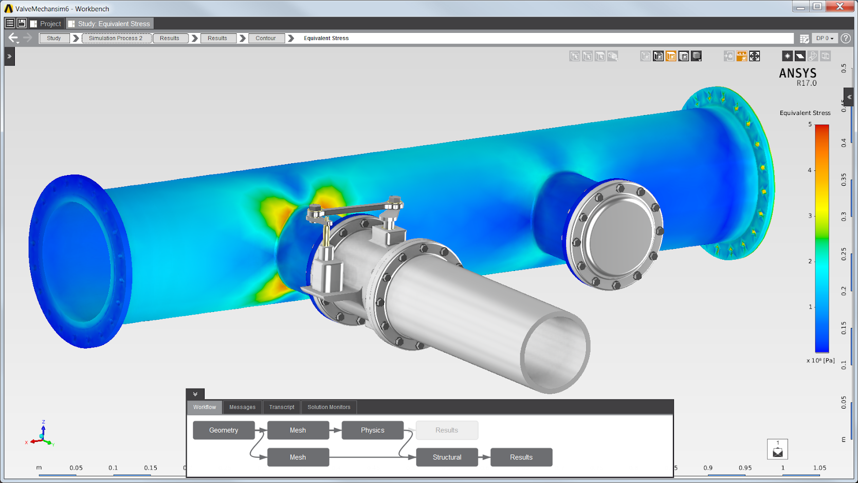 ANSYS AIM user interface engineering simulation software